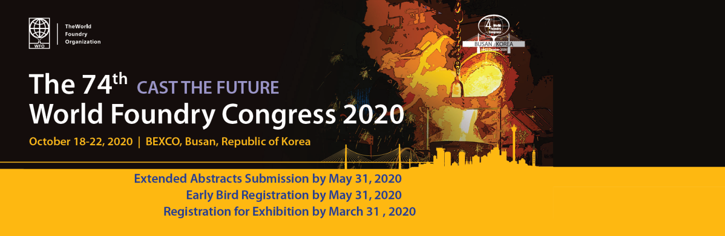 74th World Foundry Congress 2020