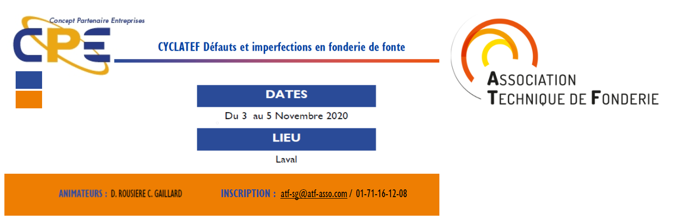 LES FORMATIONS CYCLATEF